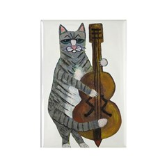 Cat and Cello Rectangle Magnet (10 pack)