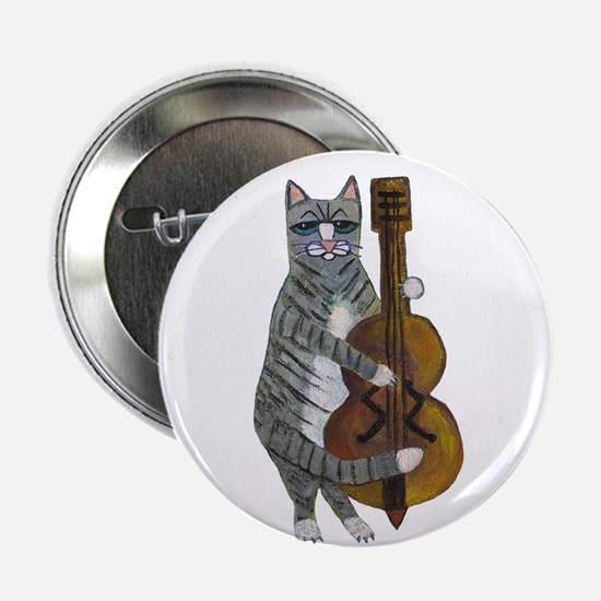 "Cat and Cello 2.25"" Button"