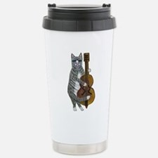 Cat and Cello Stainless Steel Travel Mug