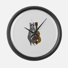 Cat and Cello Large Wall Clock
