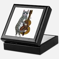 Cat and Cello Keepsake Box