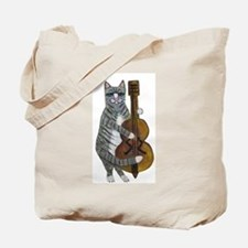 Cat and Cello Tote Bag