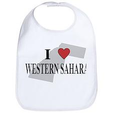 I Love Western Sahara Bib