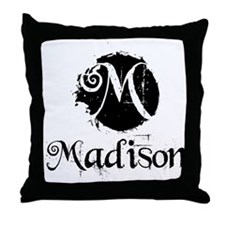 Madison Grunge Throw Pillow
