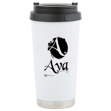 Ava Grunge Stainless Steel Travel Mug