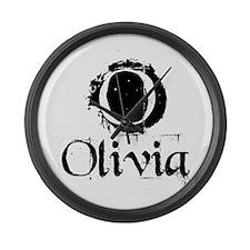 Olivia Grunge Large Wall Clock