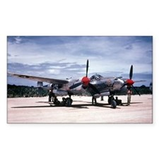PTO - P-38 Rectangle Decal