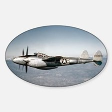 P-38 In Flight Oval Decal