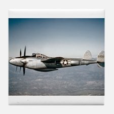 P-38 In Flight Tile Coaster
