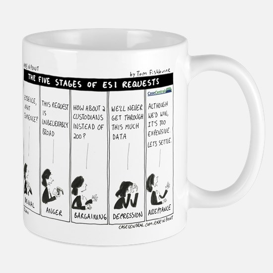 Five Stages of ESI Requests Mug