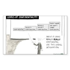 Levels of Confidentiality Decal
