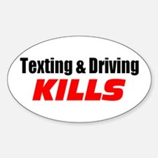 Texting & Driving Kills Decal
