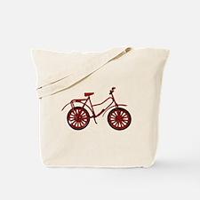 Red Bicycle Tote Bag