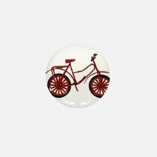 Red Bicycle Mini Button
