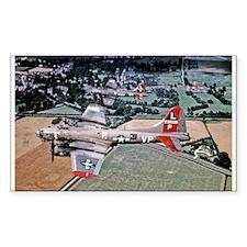 Beautiful B-17 Rectangle Decal