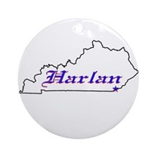 Harlan KY Ornament (Round)