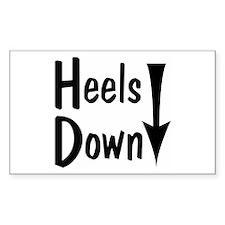 Heels Down! Arrow Rectangle Decal