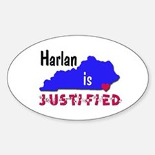 Harlan is Justified Sticker (Oval)