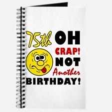 Oh Crap 75th Birthday Journal