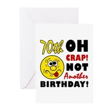 Oh Crap 70th Birthday Greeting Cards (Pk of 10)