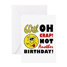 Oh Crap 60th Birthday Greeting Card