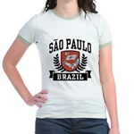 Sao Paulo Brazil Jr. Ringer T-Shirt