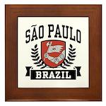 Sao Paulo Brazil Framed Tile
