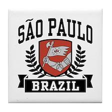Sao Paulo Brazil Tile Coaster