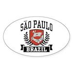 Sao Paulo Brazil Sticker (Oval)