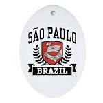 Sao Paulo Brazil Ornament (Oval)
