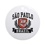 Sao Paulo Brazil Ornament (Round)