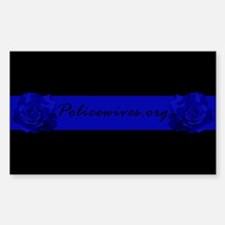 PoliceWives.Org Blueline Decal