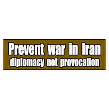 Prevent war in Iran Bumper Bumper Bumper Sticker