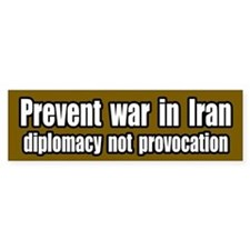 Prevent war in Iran Bumper Bumper Sticker