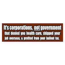 Corporate Grievances Bumper Car Car Sticker