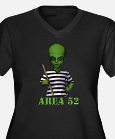 Area 52 Women's Plus Size V-Neck Dark T-Shirt