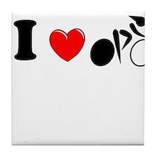 I (heart) Cycling Tile Coaster