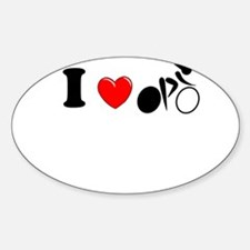 I (heart) Cycling Decal