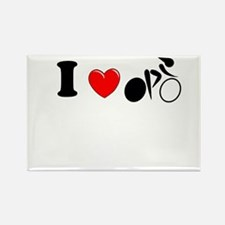 I (heart) Cycling Rectangle Magnet