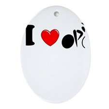 I (heart) Cycling Ornament (Oval)