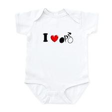 I (heart) Cycling Infant Bodysuit