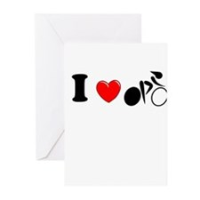 I (heart) Cycling Greeting Cards (Pk of 10)
