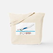 i Love Swim (girl) Tote Bag