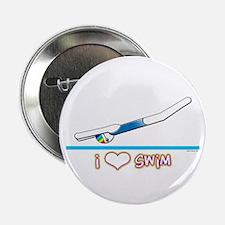 i Love Swim (girl) Button