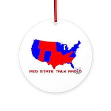 Red State Talk Radio Ornament (Round)