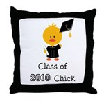 Class of 2010 Chick Throw Pillow