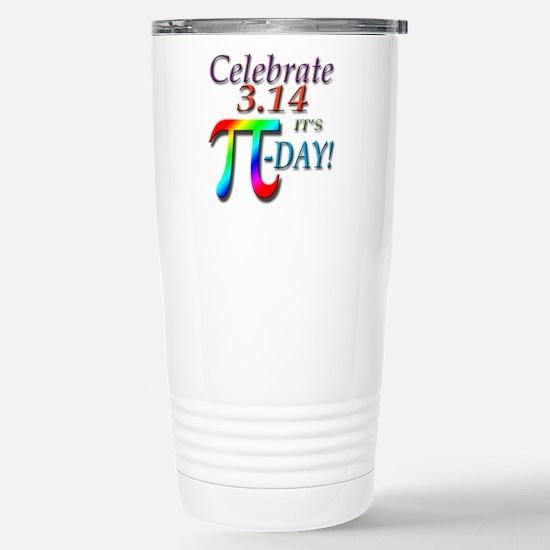 Pi Day Stainless Steel Travel Mug