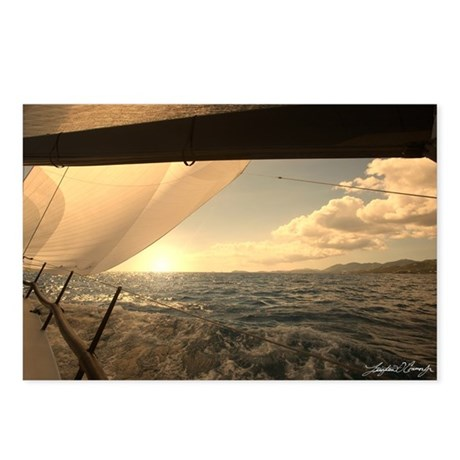 Postcards (Package of 8) ~ Sailing in St. Thomas