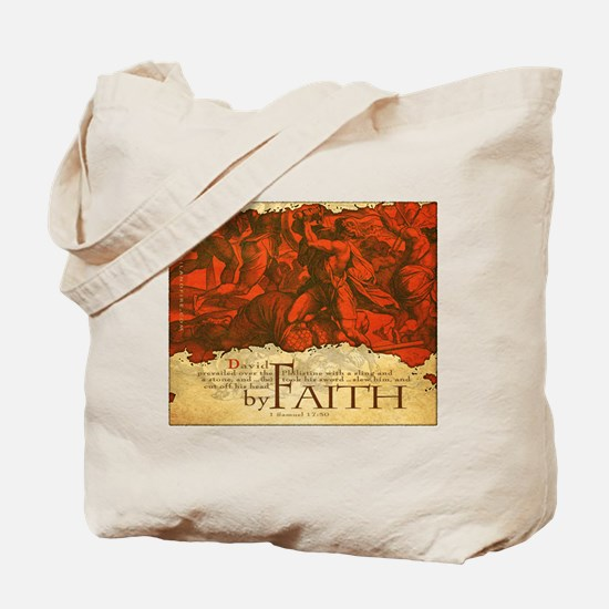 By Faith: David and Goliath (Tote Bag)