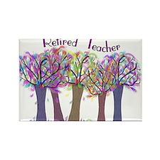 retired teacher Rectangle Magnet